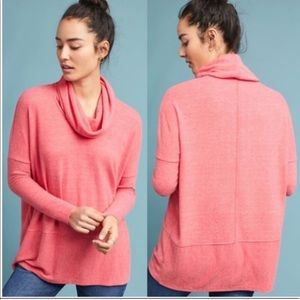Saturday Sunday Brushed Fleece Cowl Neck Pullover